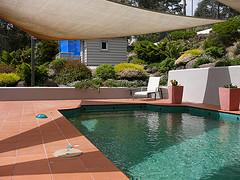 Ringwood - Pool side and retaining wall.