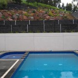 Retaining walls that store rain water - amazing. Concrete and designed to last a lifetime.